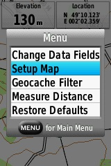 Map settings on the 64s